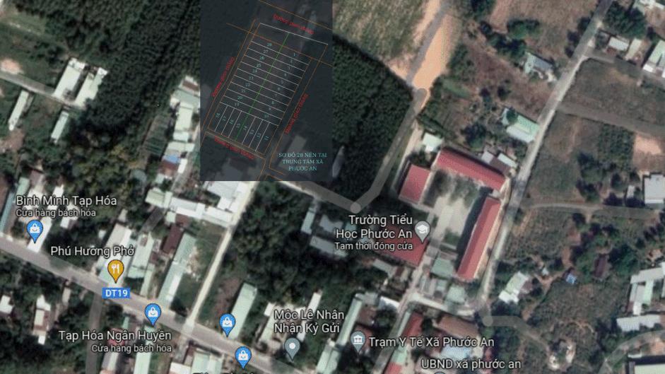 vị trí khu đất phân lô